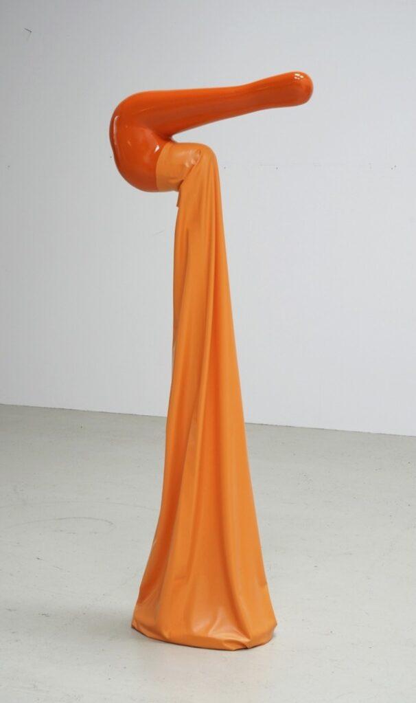 Gummikanone, 1968 • fiber-glass reinforced polyester, mixed media, latex, 190 x 76 x 42 cm