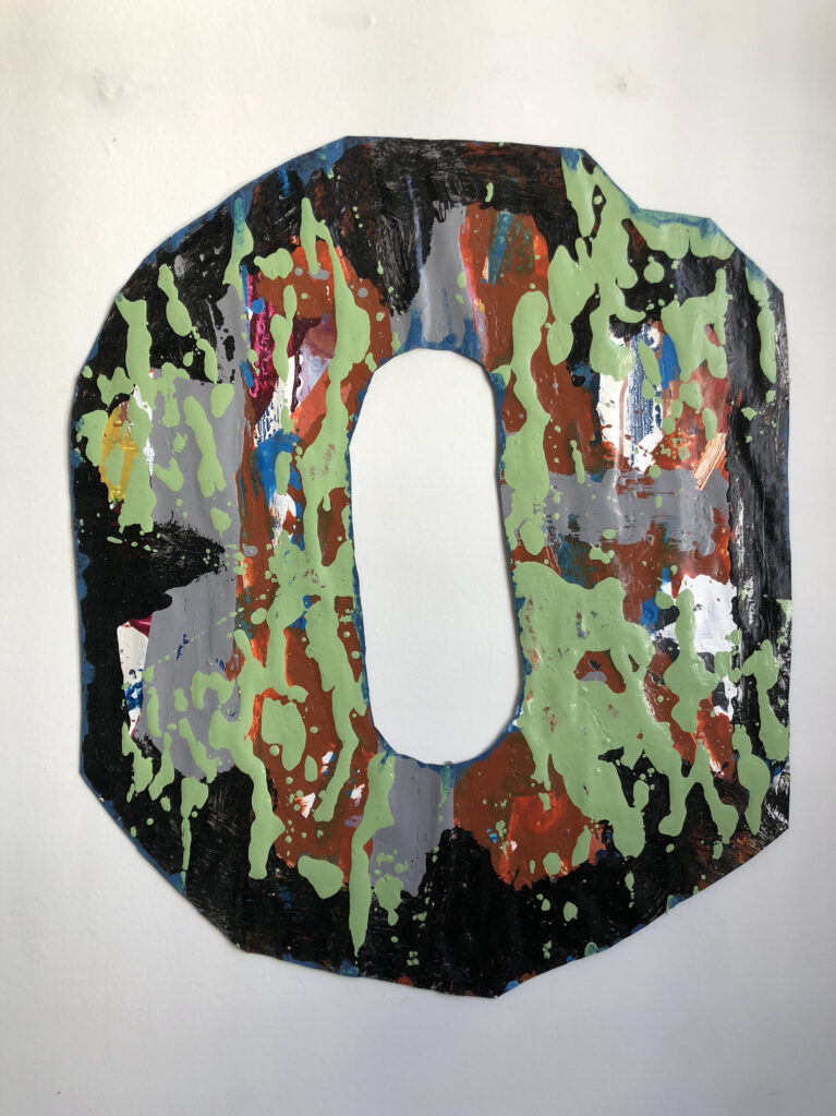 Ohne Titel, 2019 • acrylic lacquer on paper, 64 x 73 cm