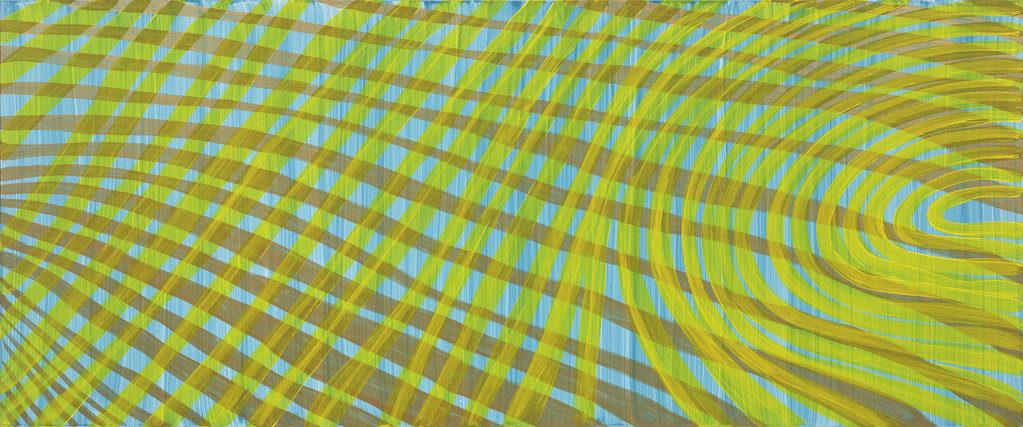 Ohne Titel, 2003 • acrylic  on aluminium comb board, 95 x 228 cm