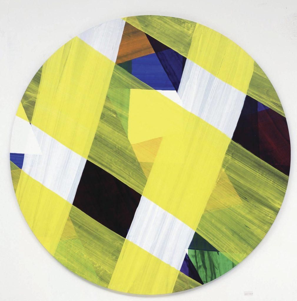 Ohne Titel, 2005 • acrylic on canvas, ∅ 200cm
