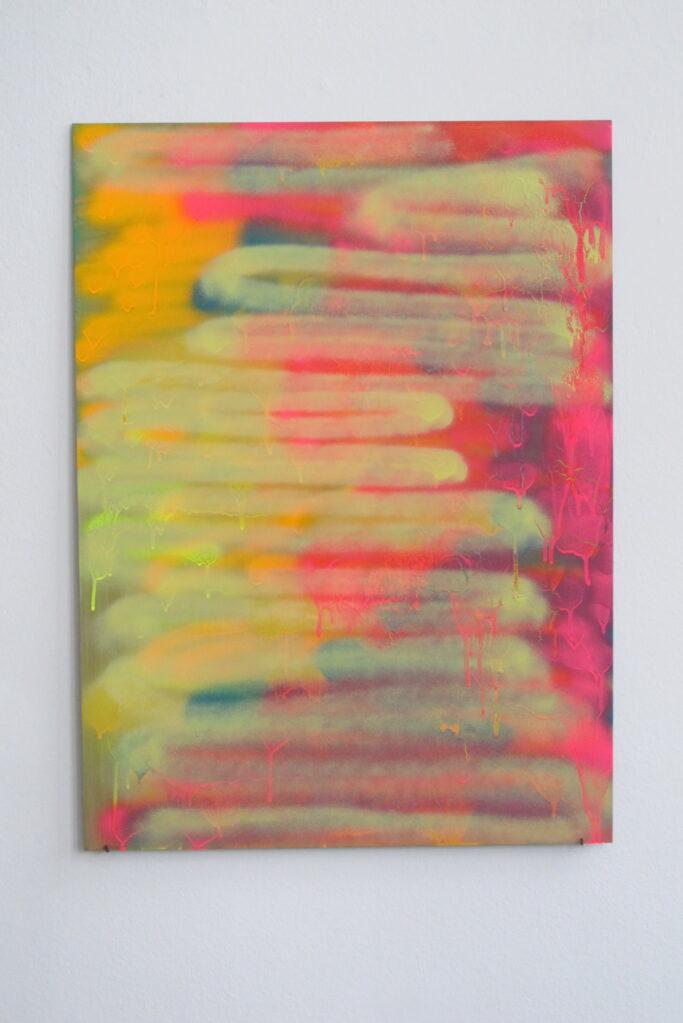 Ohne Titel, 2001 • acrylic on aluminium, 76 x 56 cm