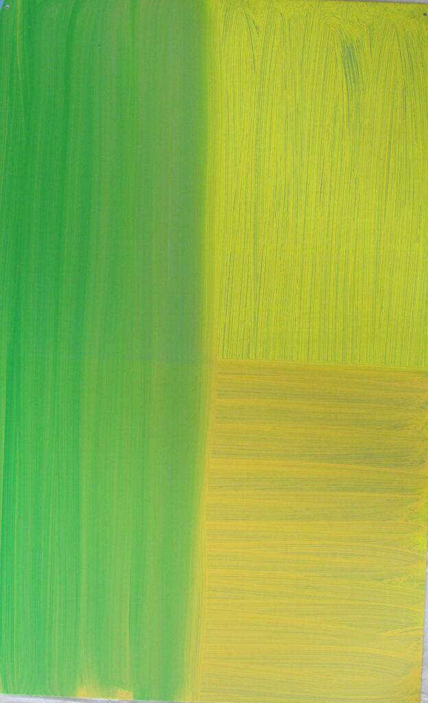 Ohne Titel, 2000 • oil on aluminium, 66 x 41.5 cm
