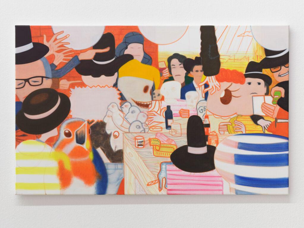 Team B (Friends), 2019 • oil on cotton, 65 x 105 cm