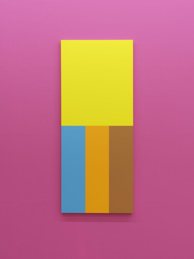 Sans Titre (Caran d'Ache), 2019 • acrylic on canvas, 169.5 x 70.5 cm