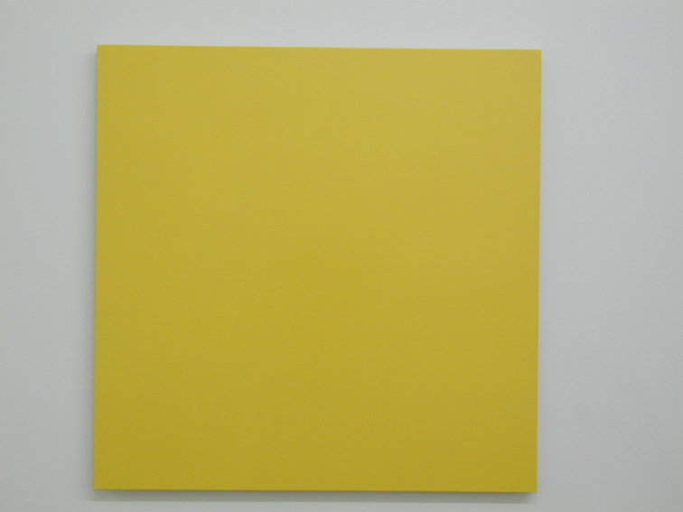 Yellow Mandarin, 1989 • enamel on wood, 91.5 x 91.5 x 1.8 cm