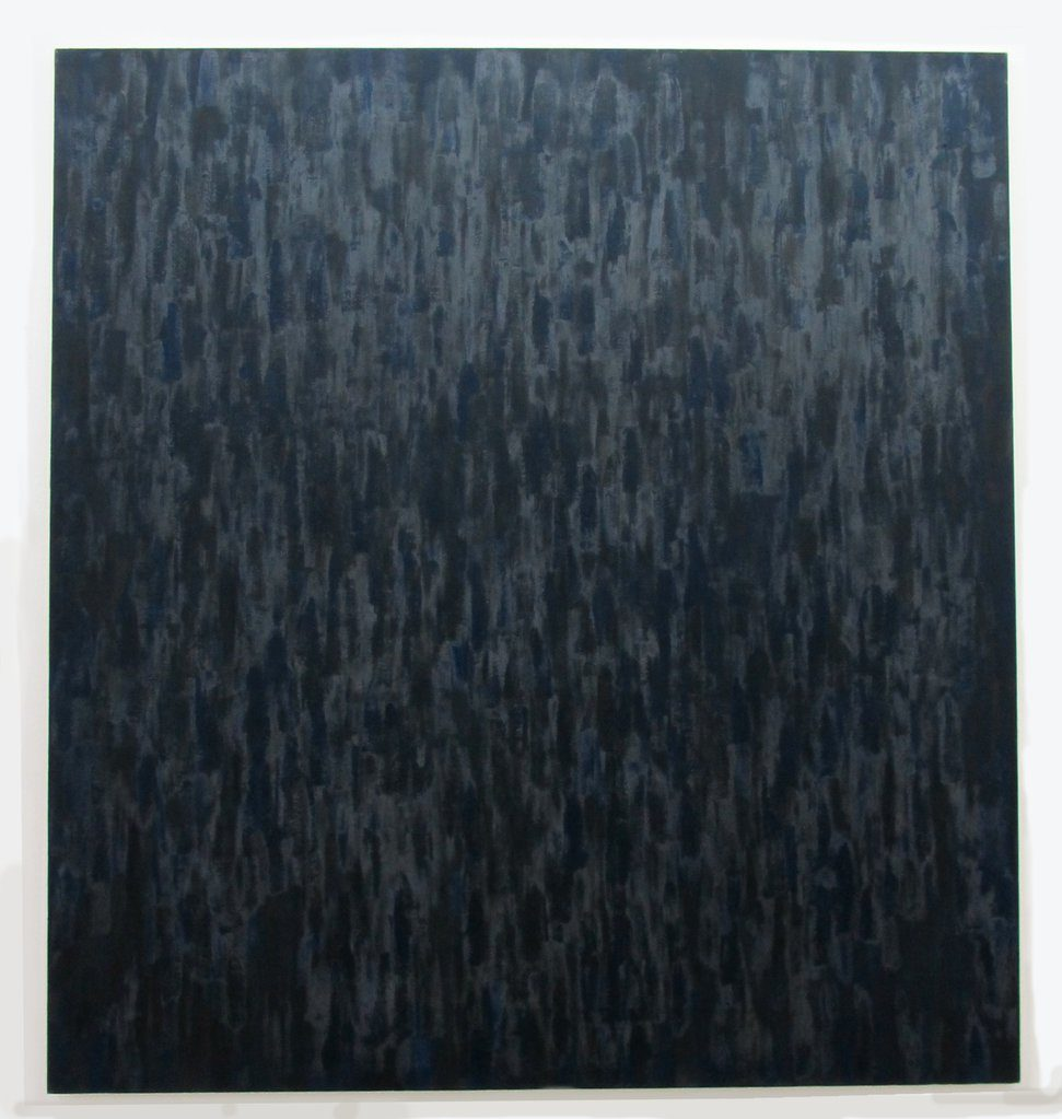 Black painting ≠ III : Ultramarine Blue/Burnt Umber, 1979 • oil on canvas, 213 x 198 cm