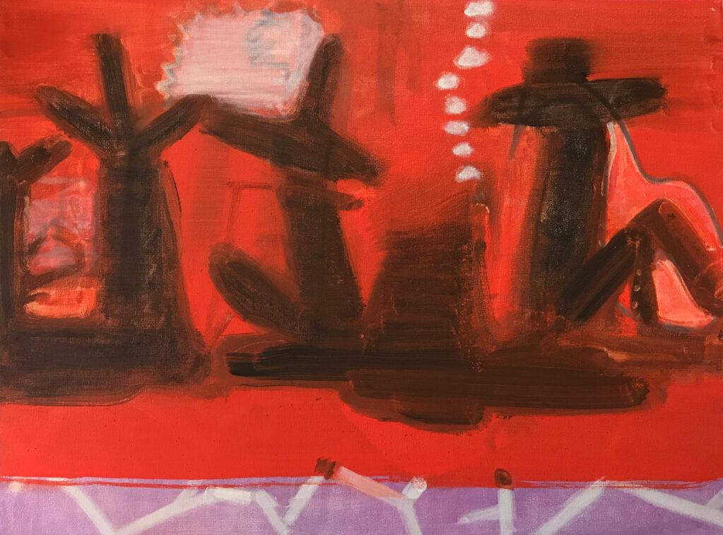 Ohne Titel, 2018 • oil on linen, hdf-core, 30 x 40 cm