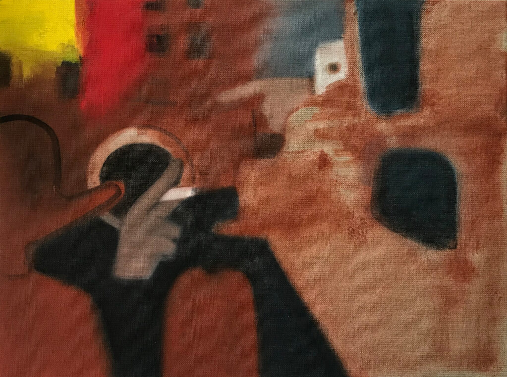 Ohne Titel, 2019 • oil on linen, hdf-core, 30 x 40 cm