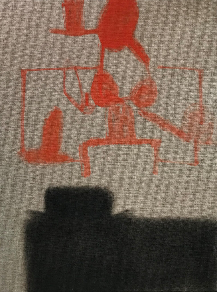 Ohne Titel, 2019 • oil on linen, hdf-core, 40 x 30 cm