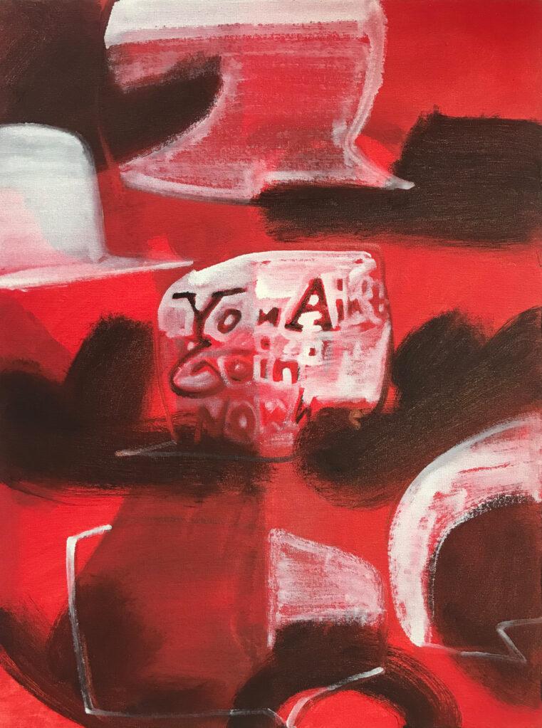Ohne Titel, 2017 • oil on linen, hdf-core, 40 x 30 cm