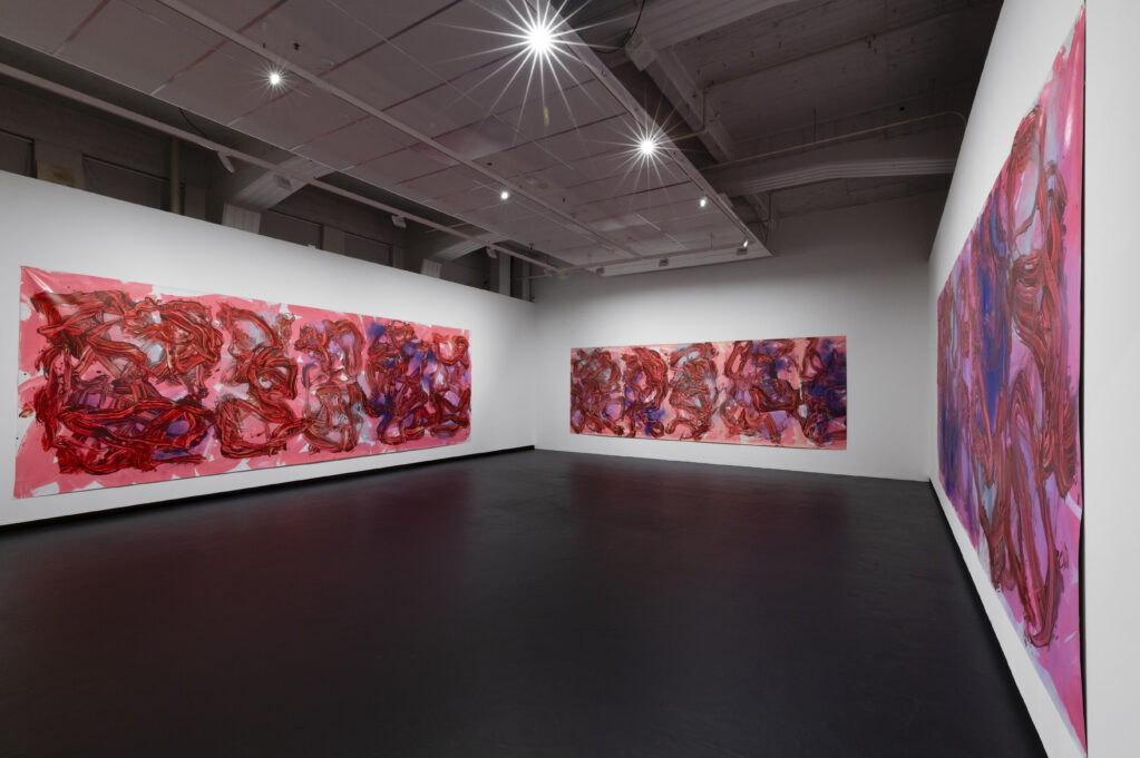 Judy Millar: Action Movie, 2021 • Installation view at City Gallery Wellington (NZ)