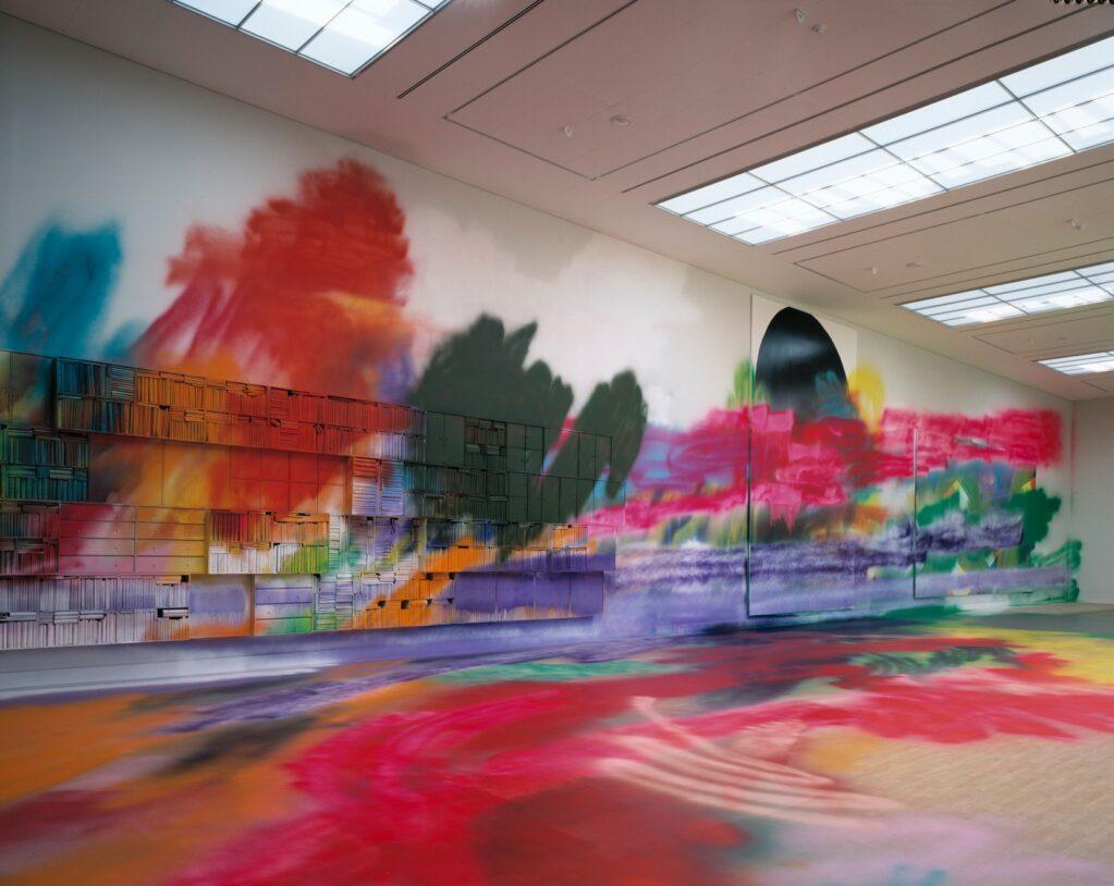 Double Floor Painting, 2004 • Installation view at Kunsthalle Brandts Klædefabrik, Odense, Denmark (DK)