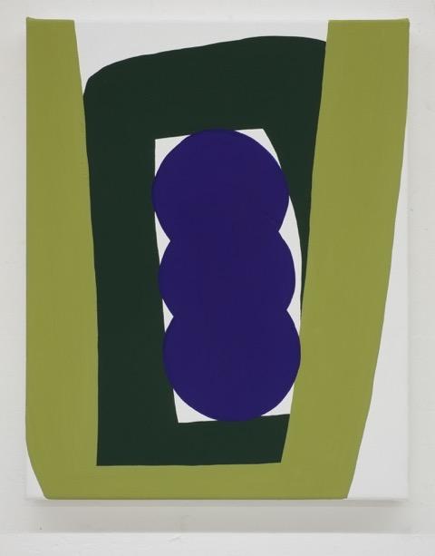 LW60, 2017 • distemper on canvas, 50 x 40 cm