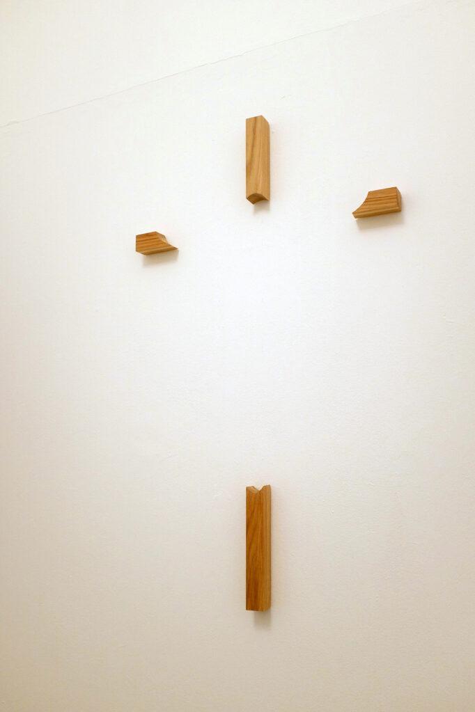 Weg, 2016 • oak wood , 1096 × 62 × 5 cm