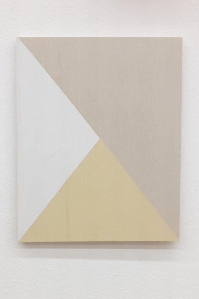 Ohne Titel, 2019 • acrylic auf cotton and lycra, 50.5 x 40 cm