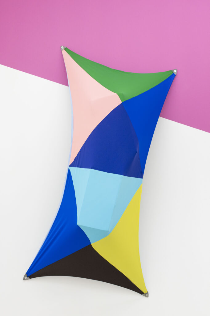 Ohne Titel, 2019 • lycra and cardboard, 320 x 140 x 70 cm