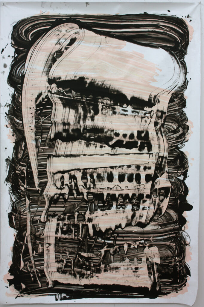 Untitled, 2009 • acrylic, oil on canvas, 160 x 108 cm