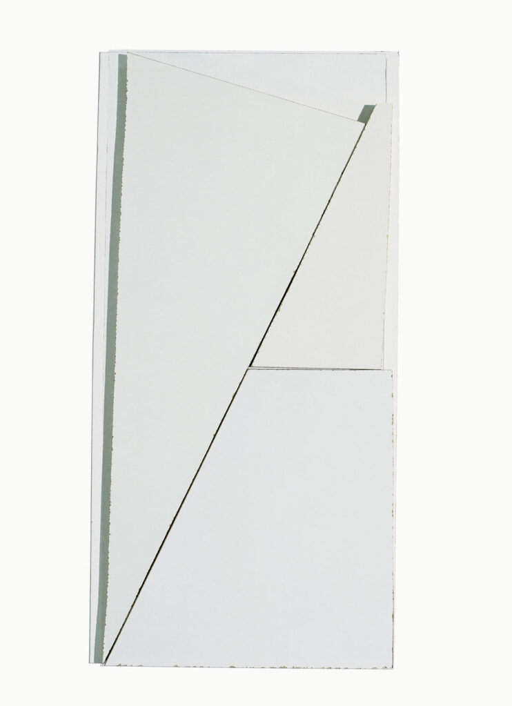 Ohne Titel (weisse Bilder), 2007 • laminated wood, glass, 66,5 × 31,5 cm
