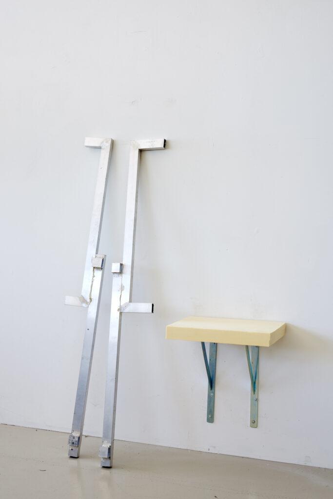 R-20.1 (Rest), 2020 • aluminium profile, steele angle, hard foam sheet, 136 x 95 x 39 cm