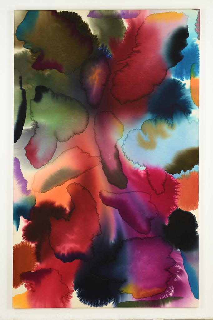 Rascal, 2017 • mixed media on cotton, 240 x 150 cm