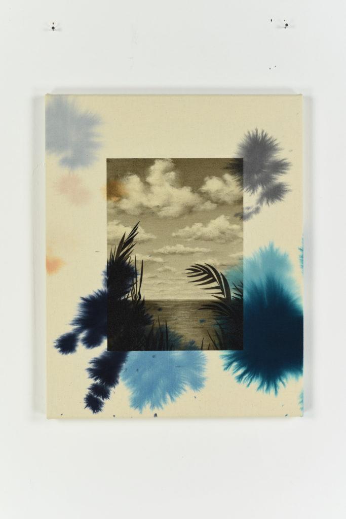 Palm, 2017 • mixed technique on cotton, 50 x 40 cm