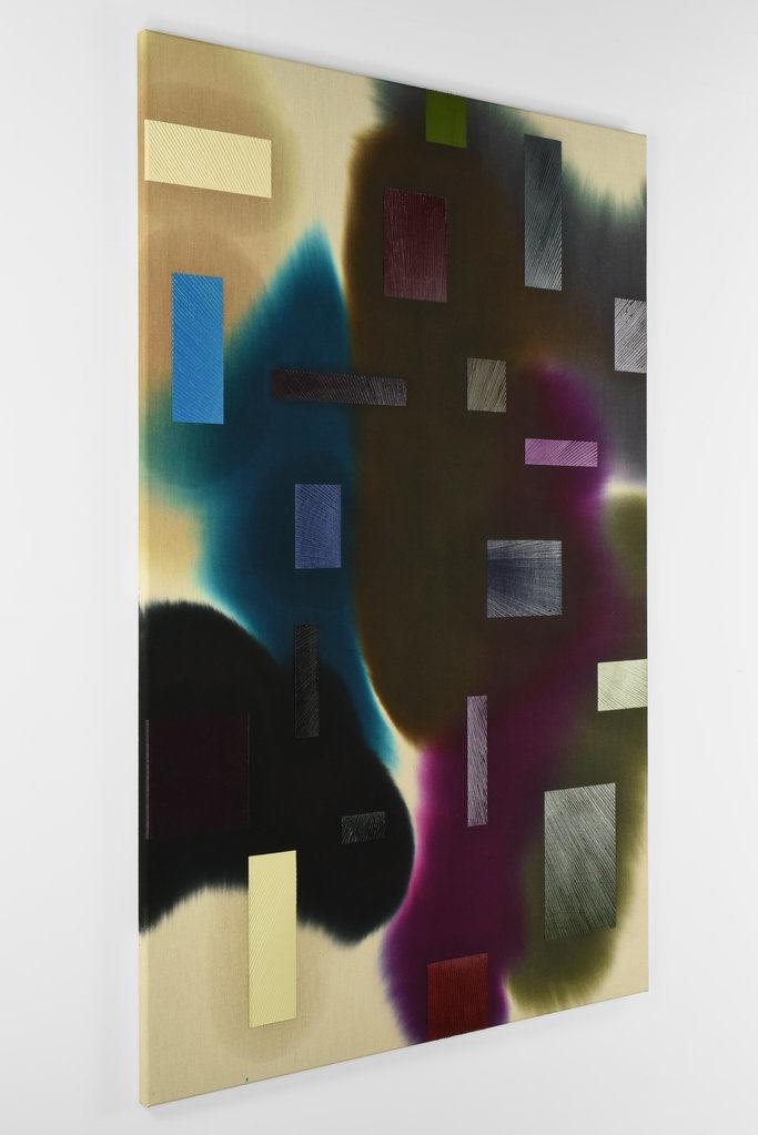 Tendo 1, 2018 • mixed media on hemp, 180 x 120 cm