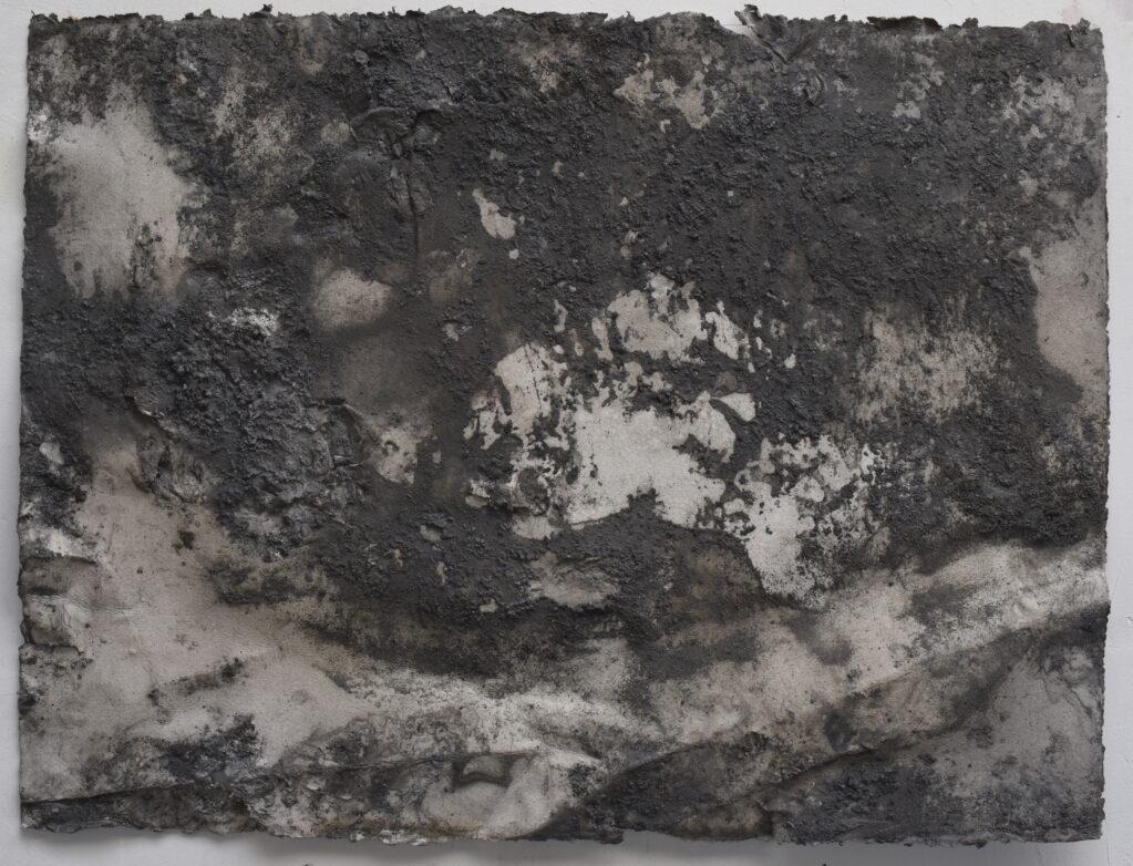 Steinzeichnung C1, Carnusatobel, 7.6 – 1.11.2020 • rock on hand-made paper, 56.6 x 75.5 cm