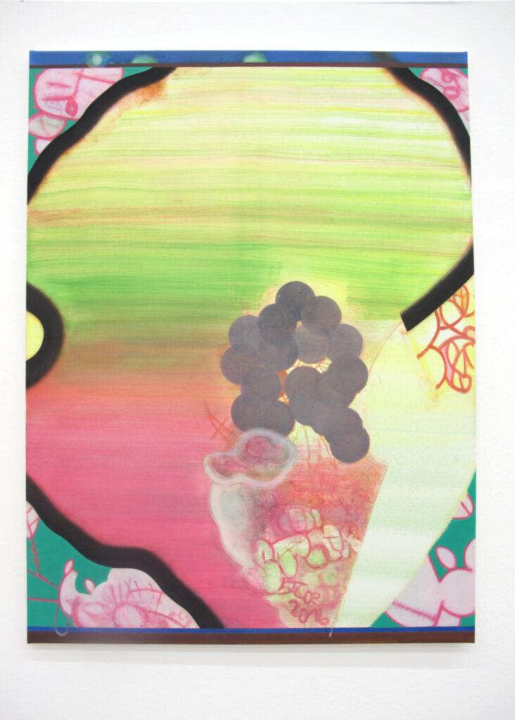 Pensée, 2016 • oil on cotton, 120 x 90 cm