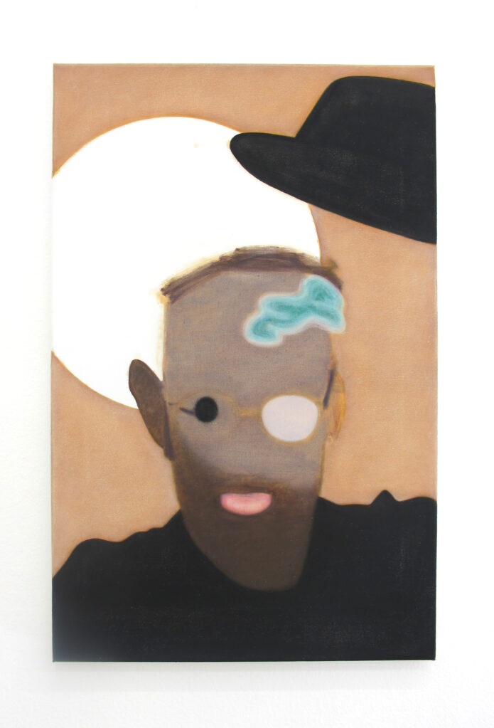 Selbstporträt, 2017 • oil on cotton, 67 x 43 cm