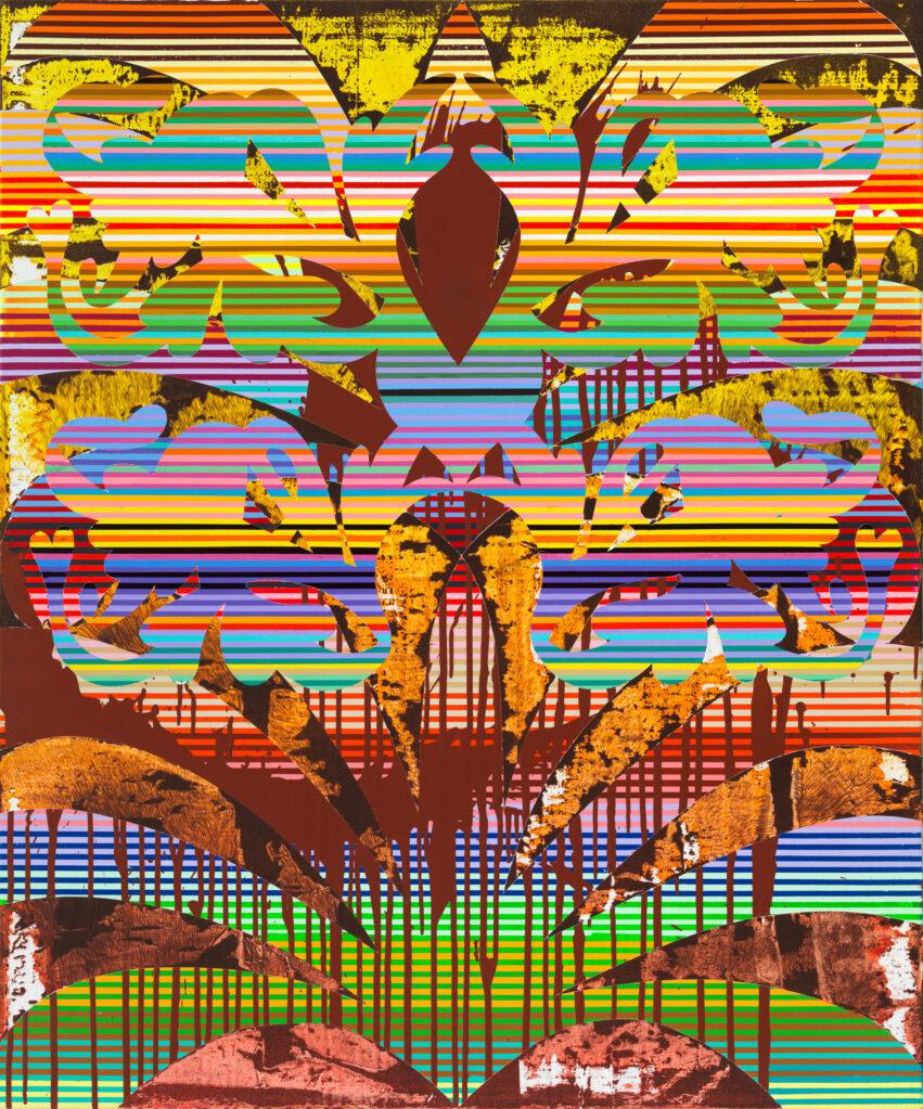 Insel B, 2015 • mixed media on cotton, 120 x 100 cm
