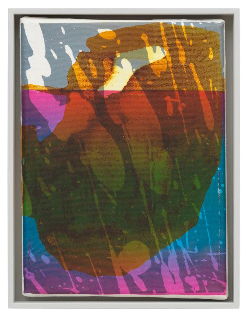 Übertragung_04, 2021 • mixed media on canvas, 26.5 x 20.5 x 3.5 cm