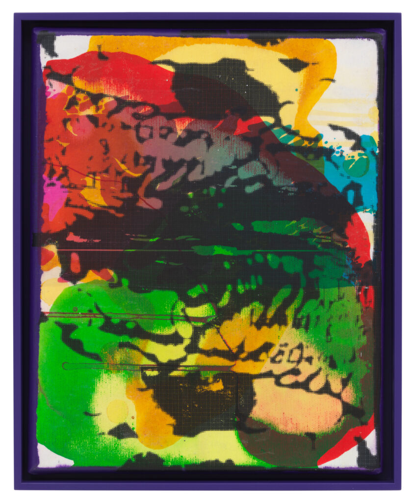 Übertragung_06, 2021 • mixed media on canvas, 32.5 x 26.5 x 3.5 cm