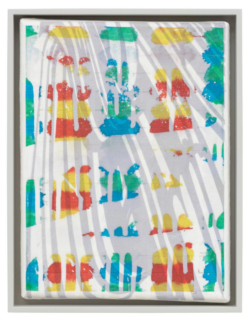 Übertragung_07, 2021 • mixed media on canvas, 26.5 x 20.5 x 3.5 cm