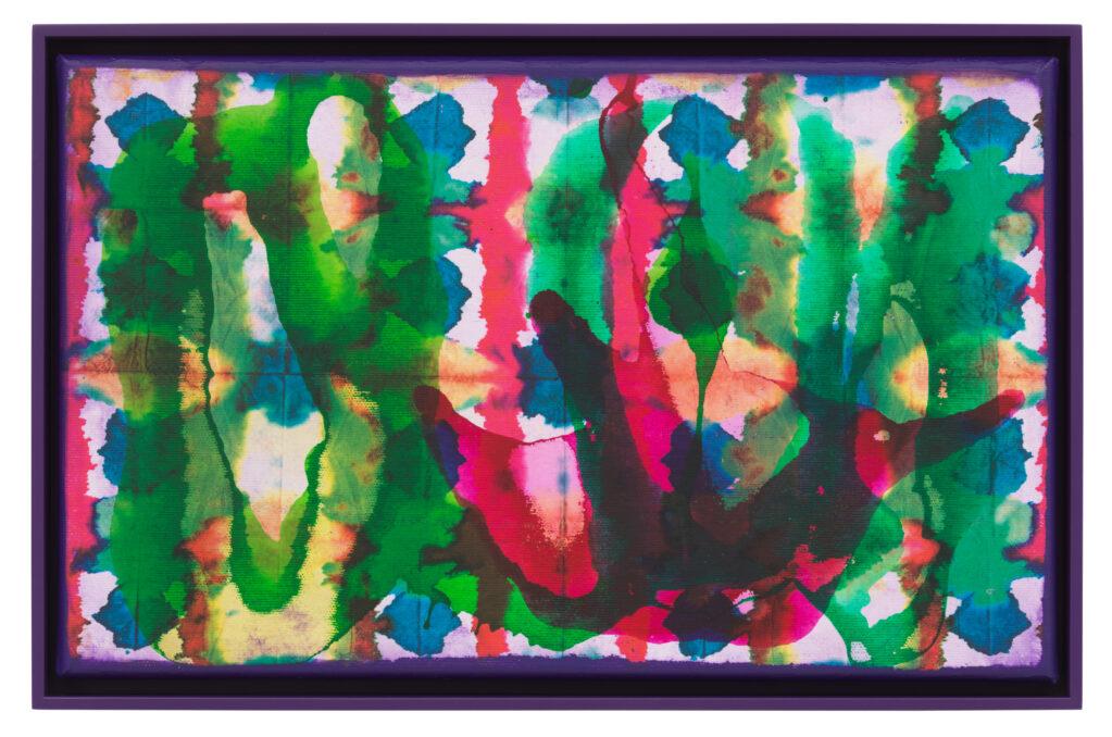 Übertragung_24, 2021 • mixed media on canvas, 27.5 x 42.5 x 3.5 cm