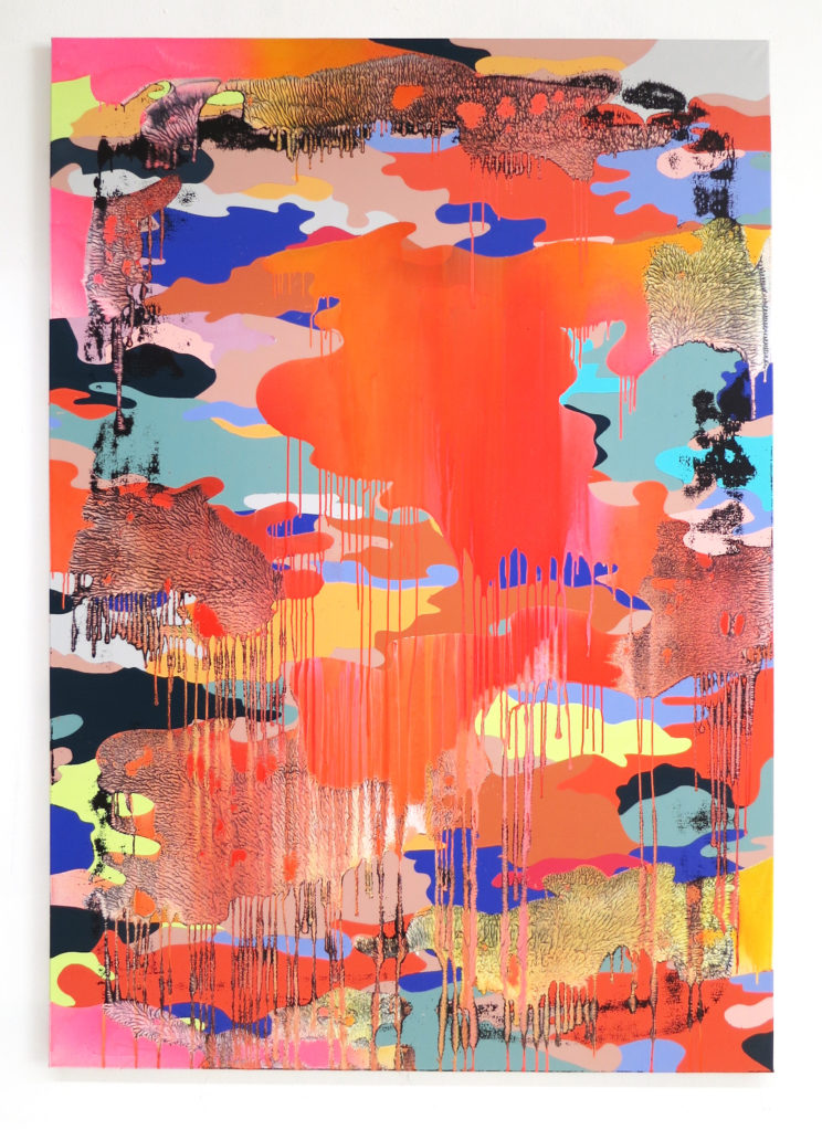 Big_Warpainting_02, 2016  • mixed media on canvas, 230 x 160 x 4 cm