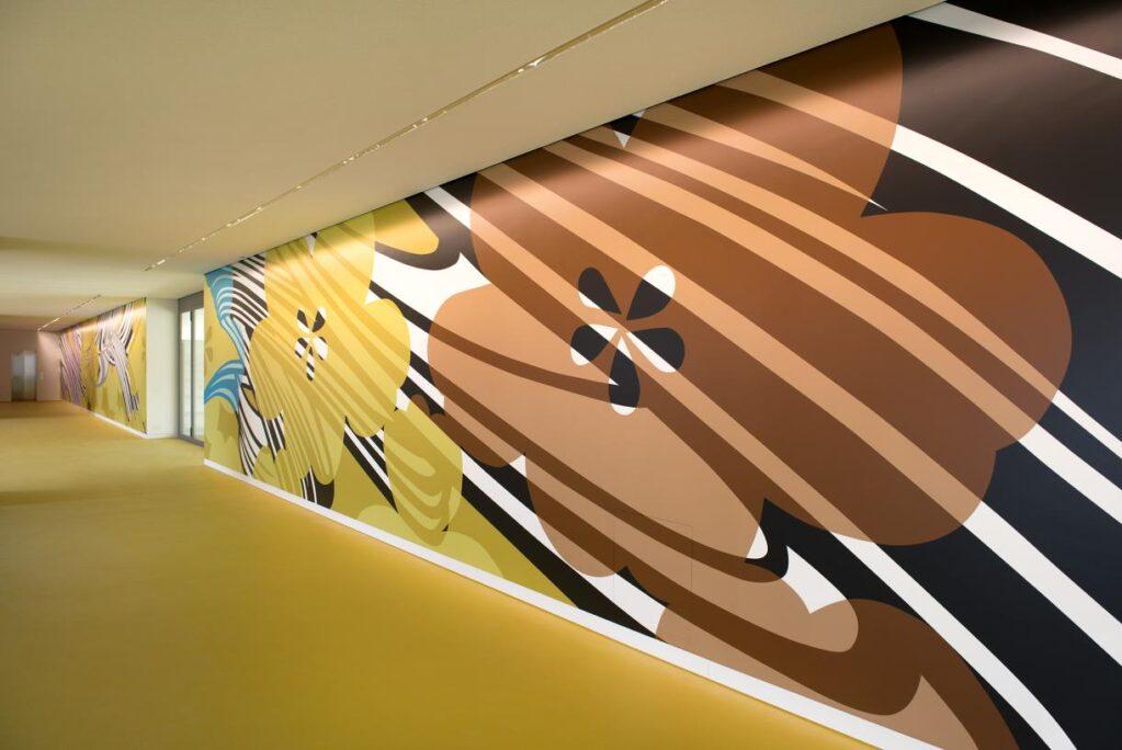 Schnittmengen, 2019 • installation view at Bildungszentrum Uster (CH), Kunst am Bau