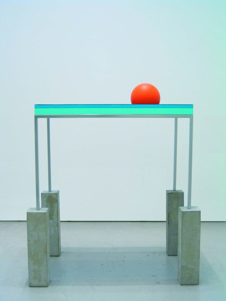 Carpool is for Lovers, 2004/2007 • concrete, steel, mdf, plexiglas, plastic, paint, 165 × 121 × 76 cm