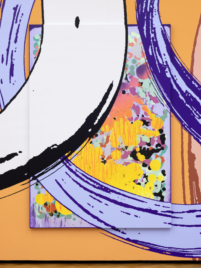 Lange Arme, kurze Beine_03, 2019  • mixed media on canvas, 230 x 160 cm