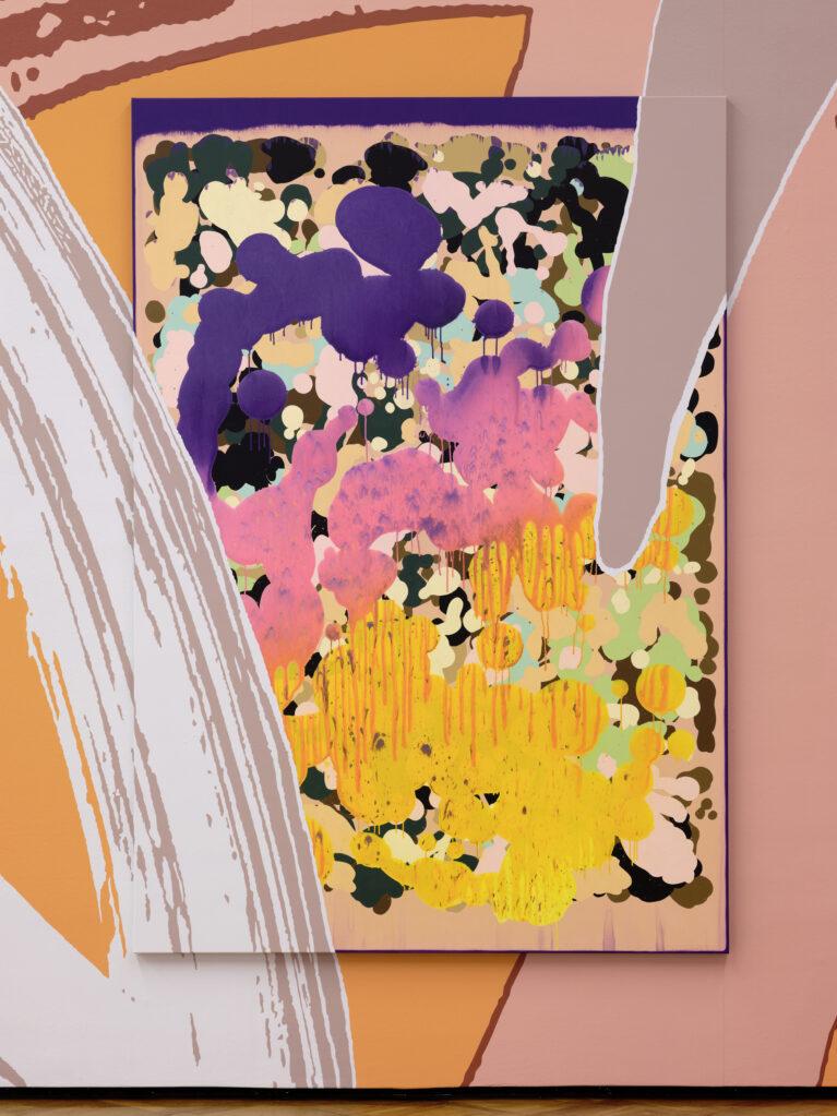 Lange Arme, kurze Beine_05, 2019  • mixed media on canvas, 230 x 160 cm