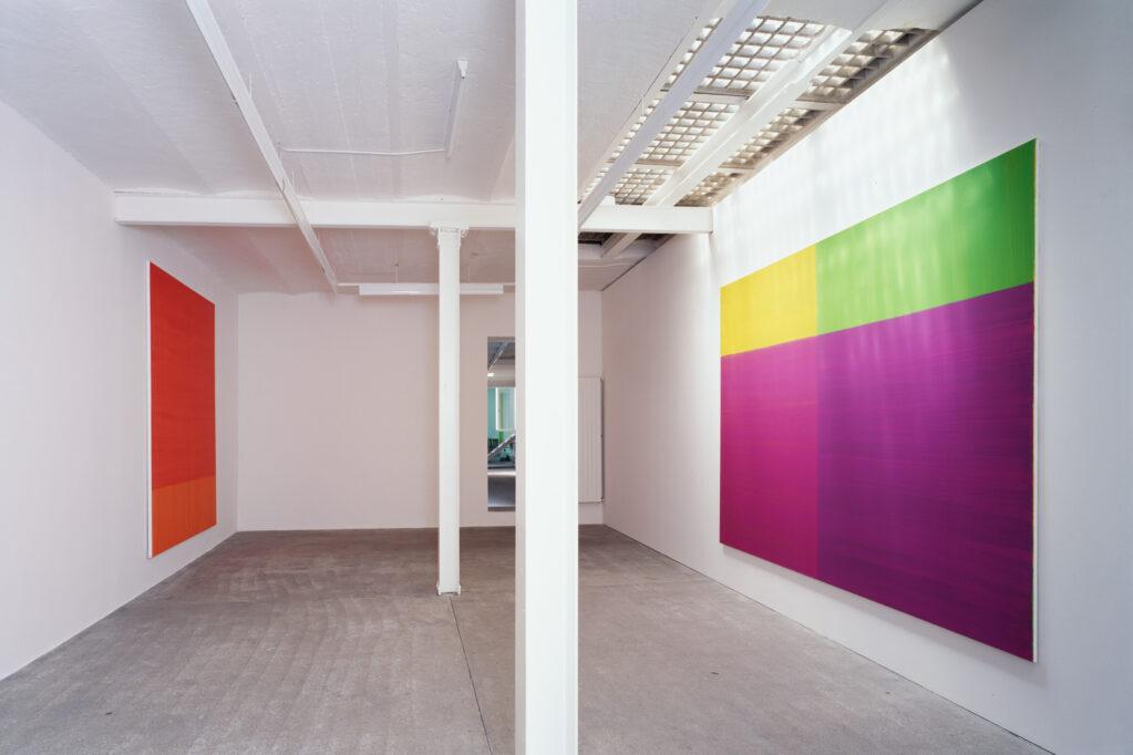 Exhibition view • Katharina Grosse «Malerei», 1997