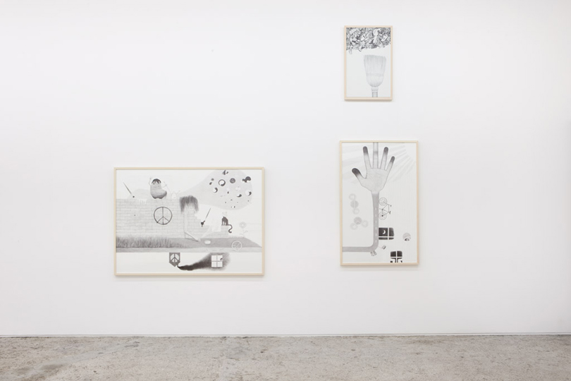 Exhibition view • Sabina Baumann, «Finger aus Licht», 2011