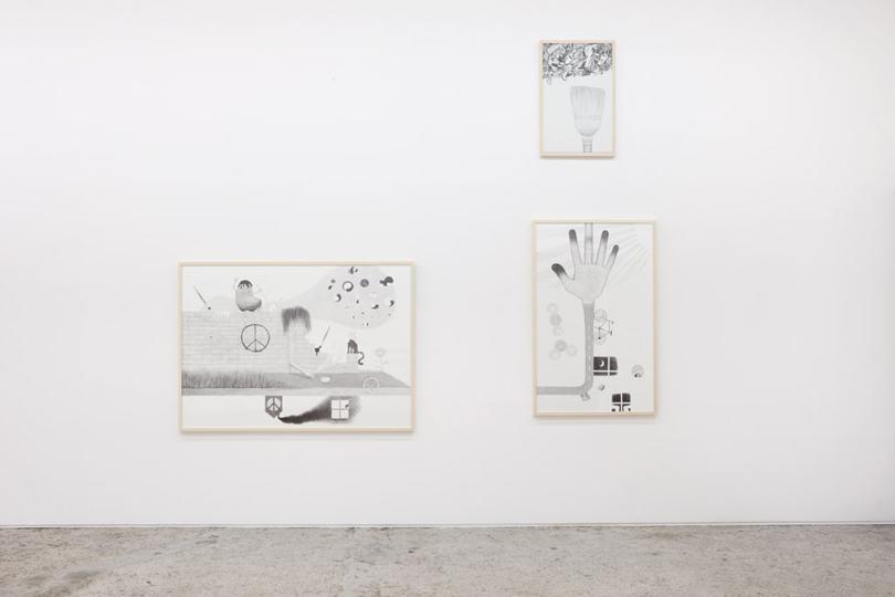 Exhibition view • Sabina Baumann, «Finger aus Licht», 2011