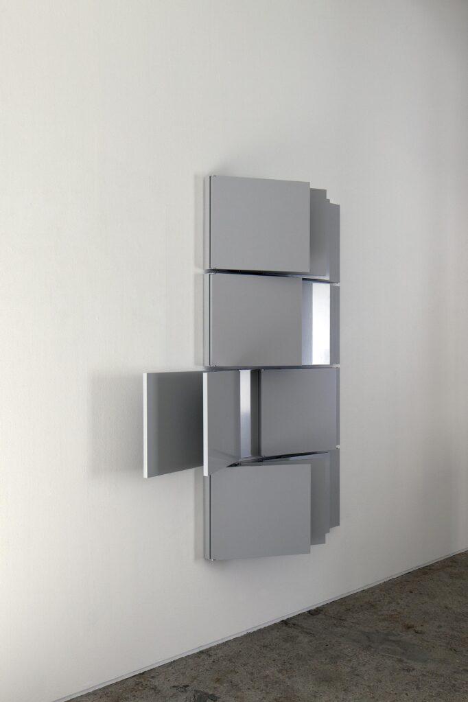 Pavilion Gray Quartet, 2020 • acrylic on MDF, aluminum joints, 207.2 x 226.3 xy 4.4 cm