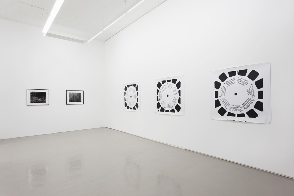 Exhibition view • Parallel #7: Erica Baum - «Harpoon the Monster: Blackboards, Blanks and Viewmasters», 2014