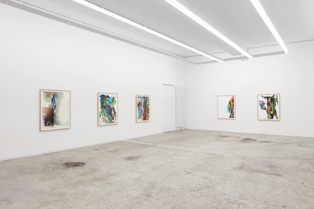 Exhibition view • Katharina Grosse «Die Ball», 2014