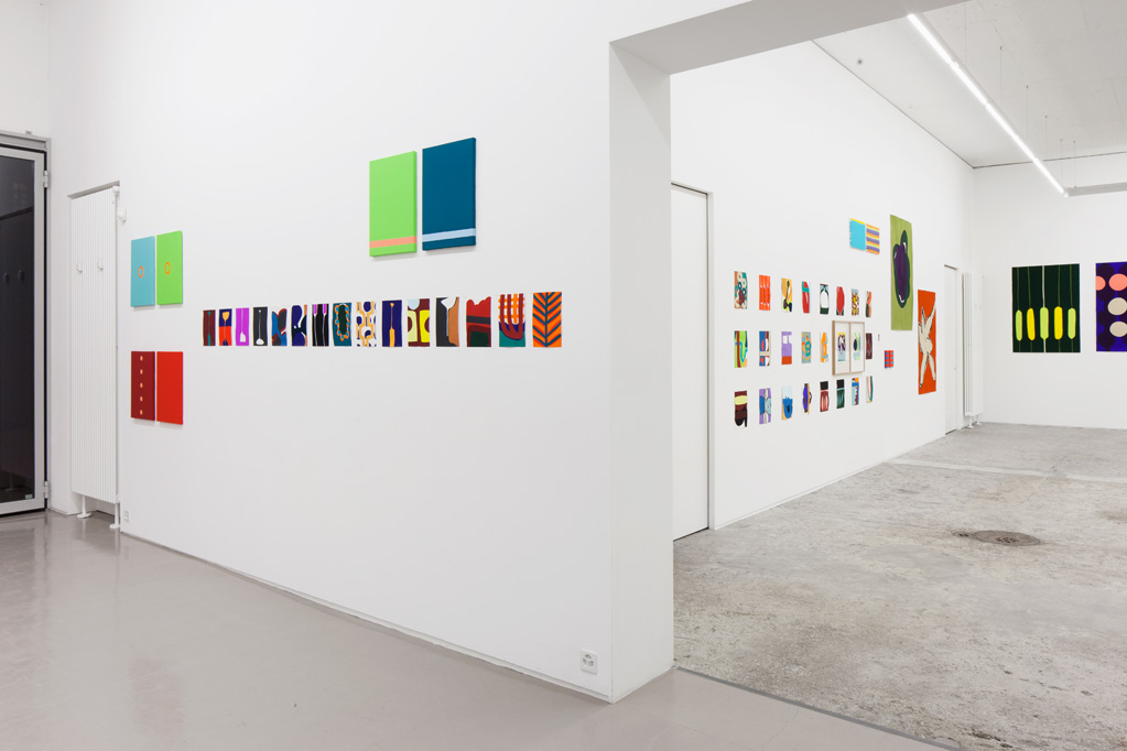 Exhibition view • Markus Weggenmann «mostly paintings on paper», 2015