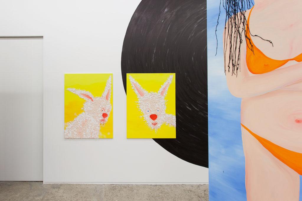 Exhibition view • Heike Kati Barath «mitten unter», 2015