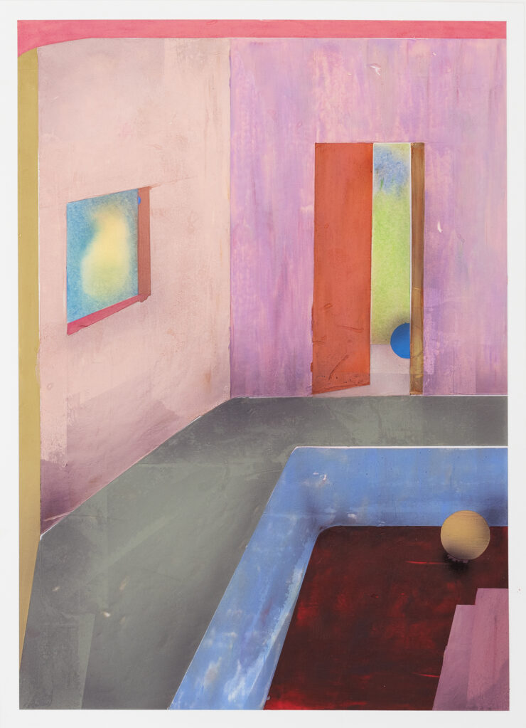Dream Home ≠21 , 2020 • acrylic and oil crayon on paper, 37 X 28 cm