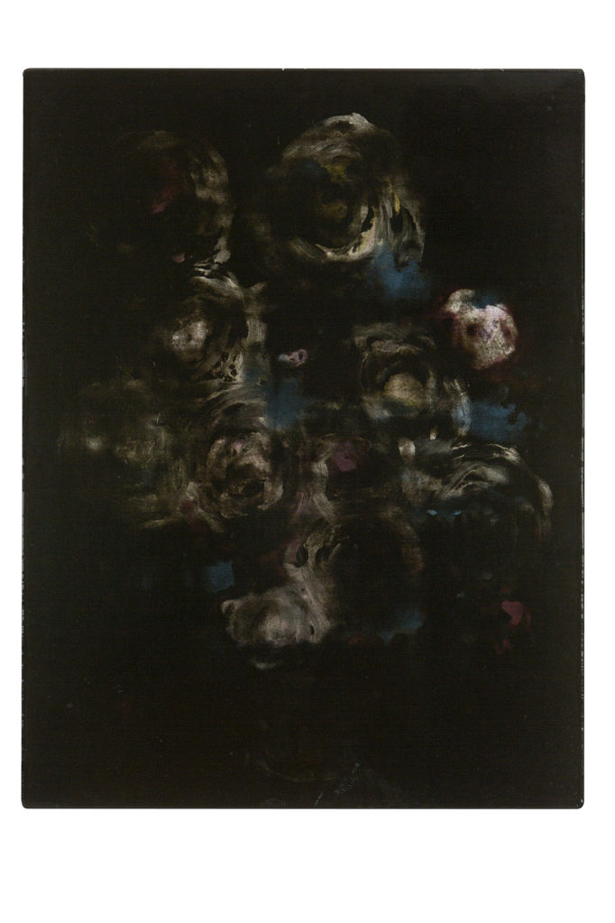 Der Aschiktänzer  (The Black Garden), 2005 • oil and polyester resin on canvas, 70 x 53 cm