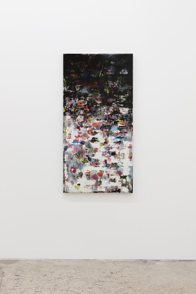 Cuba  (The Black Garden), 2004 / 2017 • oil and polyester resin on canvas, 140 x 70 cm